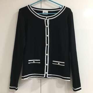 Black Pearl Embellished Cardigan