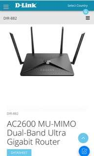 D Link DIR 882 AC2600 MU-MIMO Dual-Band Ultra Gigabit Router