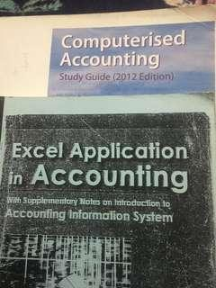 Computerised accounting(MYOB) & Excel application in accounting system(PEARSON)