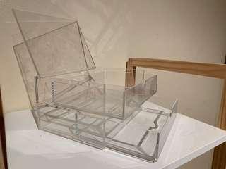 MUJI Clear Acrylic case w/ lid 2rows