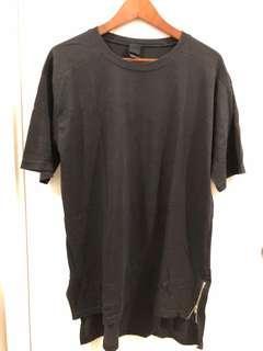 韓國黑色濶身tee shirt size F