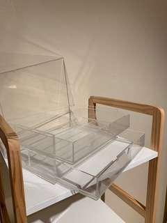 MUJI Clear Acrylic case w/ lid 2rows LARGE