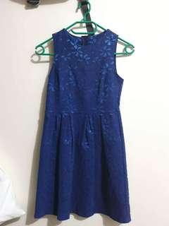 Blue lace dress XS-S
