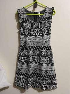 Aztec dress with side pockets XS-S
