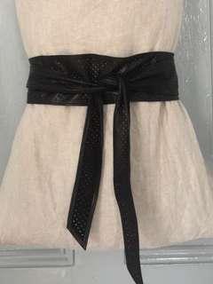 IRO Paris perforated leather waist tie