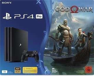 New 1TB PS4 PRO GodofWar bundle