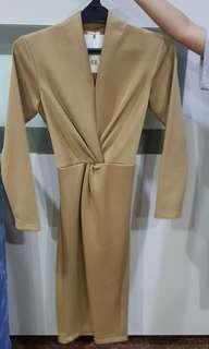 Pafon twist slit dress