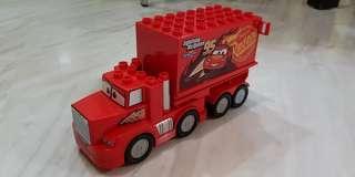 Authentic Lightning McQueen Mack Truck (Lego)