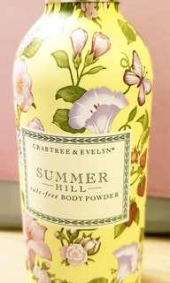 Crabtree & Evelyn Summer Hill Talc-Free Body Powder (75g)