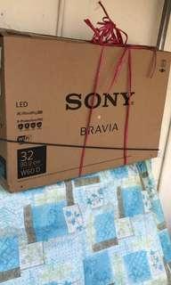 Sony 32 Inche TV Carton Empty Box with full set white Styrofoam