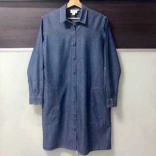 #50TXT DKNY Pure Denim Shirt Blouse