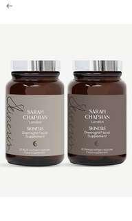 🚚 Sarah Chapman Overnight Facial Supplement Set of 2