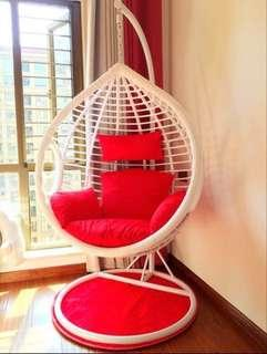 BN Red Cushion Seat for Rattan Swing Chair