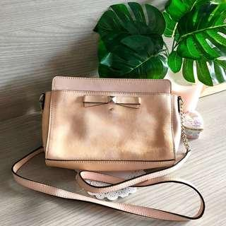 🚚 New Kate Spade Pink Patent Leather Beacon Court Angelica Crossbody Bag