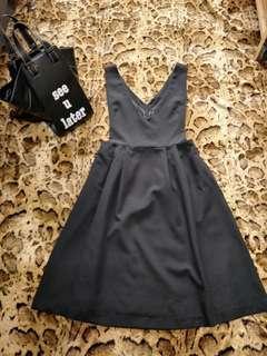 🚚 💋💯全新正韓💋優質西裝布料深氣質v洋裝#我單身我驕傲#