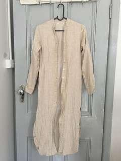 "Full Length Linen ""cardigan"""