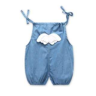 🚚 Angel Wing Jeans Romper/Suspender for Baby/Toddler (NCR 044)