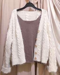 包郵🧸 軟綿綿 粗麻花紋 針織 外套 ❣️