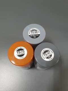 Tamiya spray paints  / tamiya panel line /Tamiya Paint / Mr Hobby Paint/ Gaia notes Paint/ Modo Paints(used)