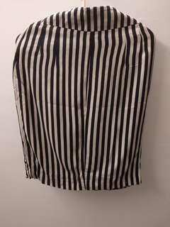 Zara Woman Contrast Stripe Pencil Skirt #50TXT Size Small
