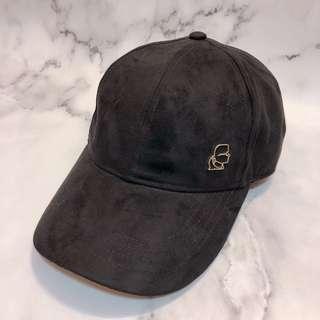 🚚 美國帶回全新Karl Lagerfeld黑色麂皮帽