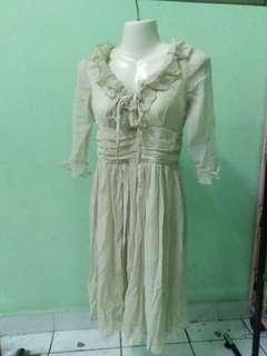 Beige colored dress