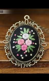 🚚 Embroidery DIY Handmade Necklace - for beginner material bag fabric ancient style sweater chain