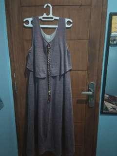 Gamis overall ungu