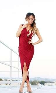 Gorgeous LIONESS Dress in Wine XS
