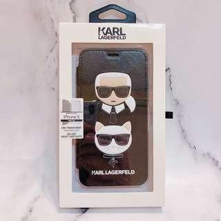 🚚 KARL LAGERFELD老佛爺&邱比特翻蓋手機硬殼