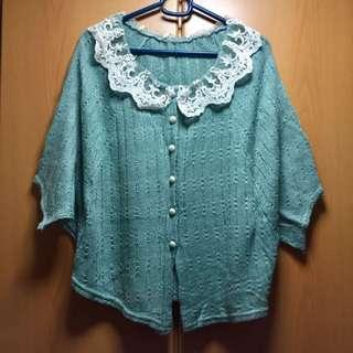 Loose Long Batwing Sleeve Ruffle Lace Top 蝙幅袖 荷葉邊 蕾絲 上衣 H&M Zara Uniqlo Mango DF Marks and Spencer Stage of Playlord G2000 Bread and Butter