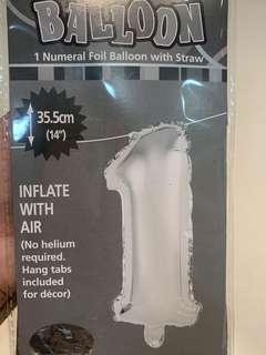 🚚 1 Numeral Foil Balloon