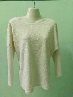 Korean styled beige coloured sweater