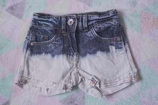 NEXT Bleached Ombre Denim Shorts