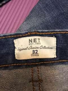 🚚 男刷色牛仔褲NET