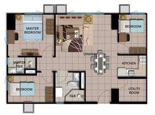 Avida Towers Verte 3 Bedroom Unit