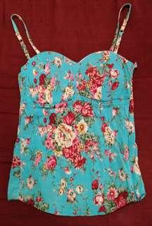 Floral corset-style top