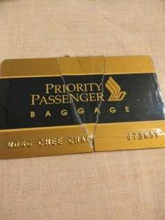 🚚 SIA priority baggage tag...damanaged