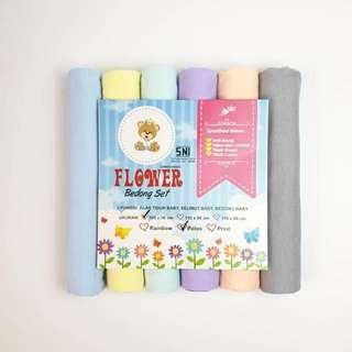(BARU) 6 helai Bedong Kaos Halus Bayi Soft Pastel 100x90cm #ibuhebat ibuhebat