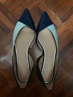 Zara 9成新尖頭平底鞋