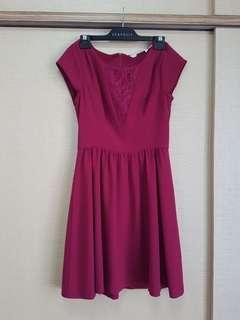 🚚 Plum lace midi dress (L)