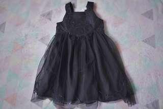 H&M Black Sequinned Tulle Dress