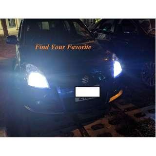 S1 Plus brand H4 6500K Cool white CSP leds fan-less headlight on Suzuki Swift- cash&carry only NO INSTALLATION (please read)
