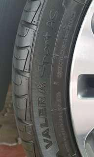 Valera Sport AS 215/45ZR17 tyres - Almost New