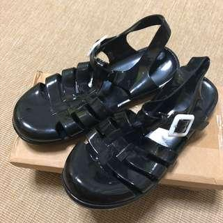 Jelly Sandals in Black