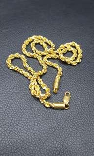 916 poh heng gold rope necklace with lobster hook, 80.21g, 60cm, 5mm thick