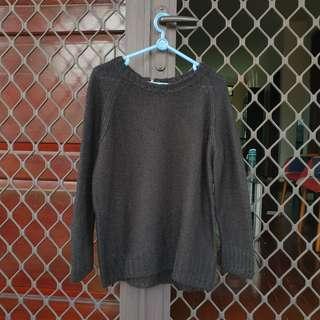 [FREE ONG] H&M Sweater black hitam