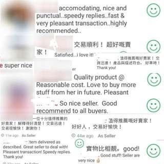 正評終於過90 + positive feedbacks 負為棄單者 negatives only from back out