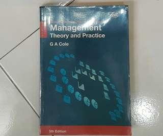 Management book theory and practice G A Cole