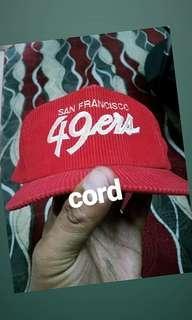 49ers dline script cord hat